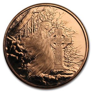 1 oz Copper Round - Celtic Lore: Banshee
