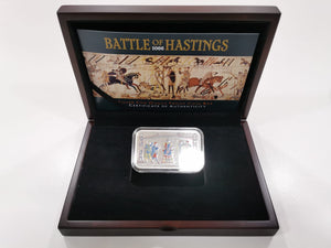 Battle of Hastings 1066 silver five ounce Proof Coin Bar