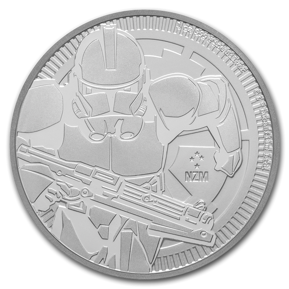 2019 Star Wars Clone Trooper - 1oz Silver Bullion Coin