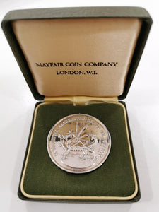 Investiture Of Prince Of Wales 1969 Silver Medallion