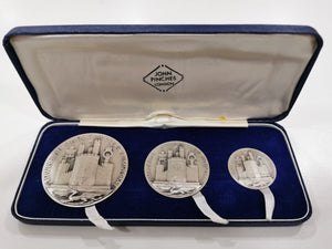 1969 John Pinches Silver Medallions Investiture Caernarvon Prince Wales
