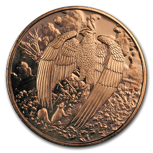 1oz Copper Round - Nordic Creatures: The Great Eagle