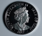2017 Isle of Man Silver Proof £1