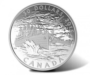 2015 $30 Fine Silver Coin Canada's Merchant Navy in the Battle of the Atlantic