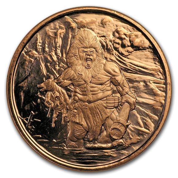 1 oz Copper Round - Nordic Creatures: Frost Giant