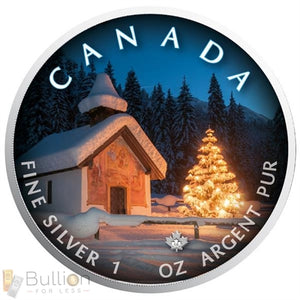 2018 Can. silent Night 1oz Silver Bullion Coin