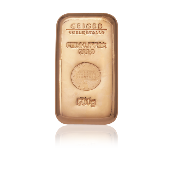 500g Copper Cast Bullion Bar