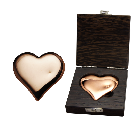 500g .999 Pure Copper Heart