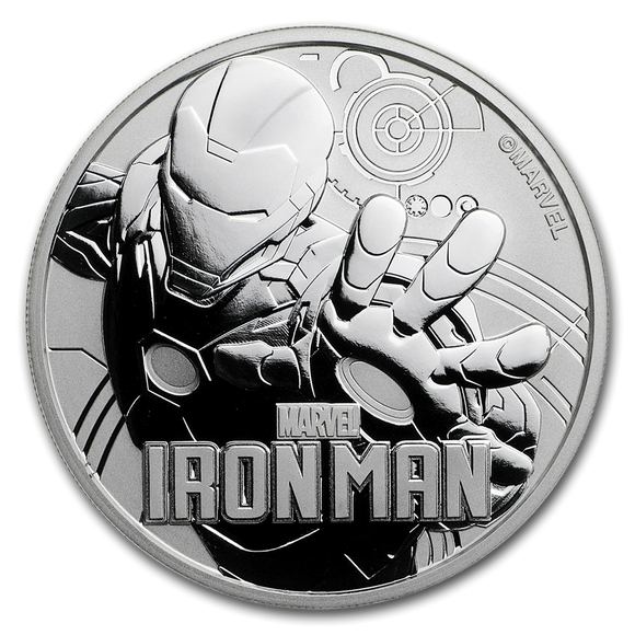 2018 Marvel Iron Man 1oz Silver Bullion Coin