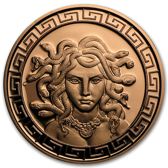 1 oz Copper Round - Medusa (Anonymous Mint)