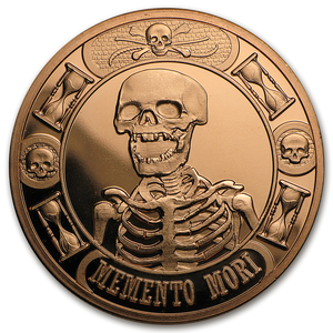 1 oz Copper Round - Memento Mori The Last Laugh (Anonymous Mint)