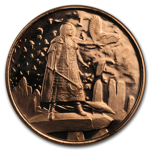 1 oz Copper Round - Celtic Lore: The Morrigan