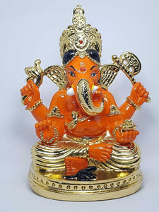 Siddhivinayak Coloured Large Silver Plated Hindu Indian Religious Ornament