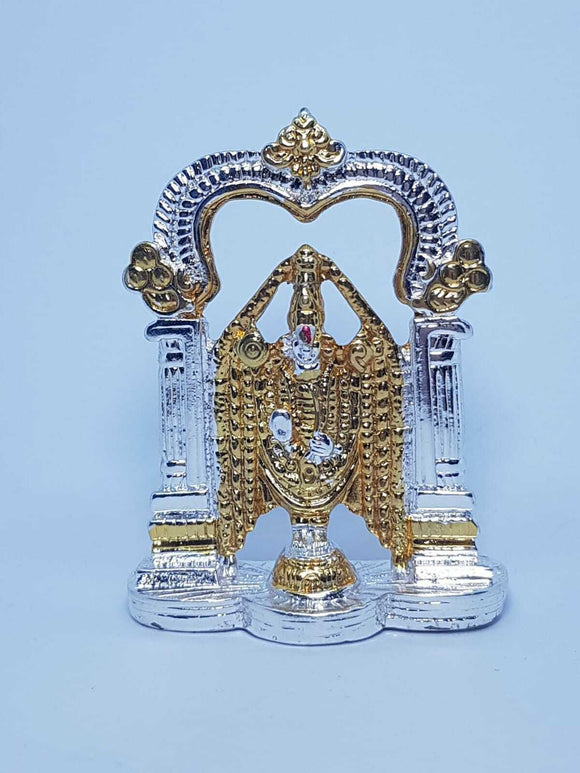 Venkateswara Temple Silver Plated Hindu Indian Religious Ornament