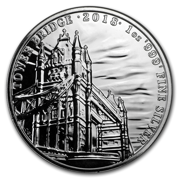 2018 Tower Bridge 1oz Silver Bullion Coin