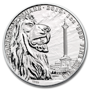 2018 Trafalgar Sq. 1oz Silver Bullion Coin