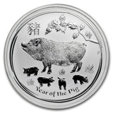2019 Austrailian Year of the Pig 1oz Silver Bullion Coin