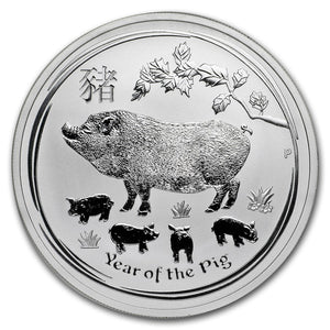 2019 Aust. pig (Year of the Pig) 1/2oz Silver Bullion Coin