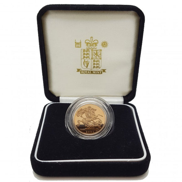 The Sovereign 2001 - Proof Gold Coin