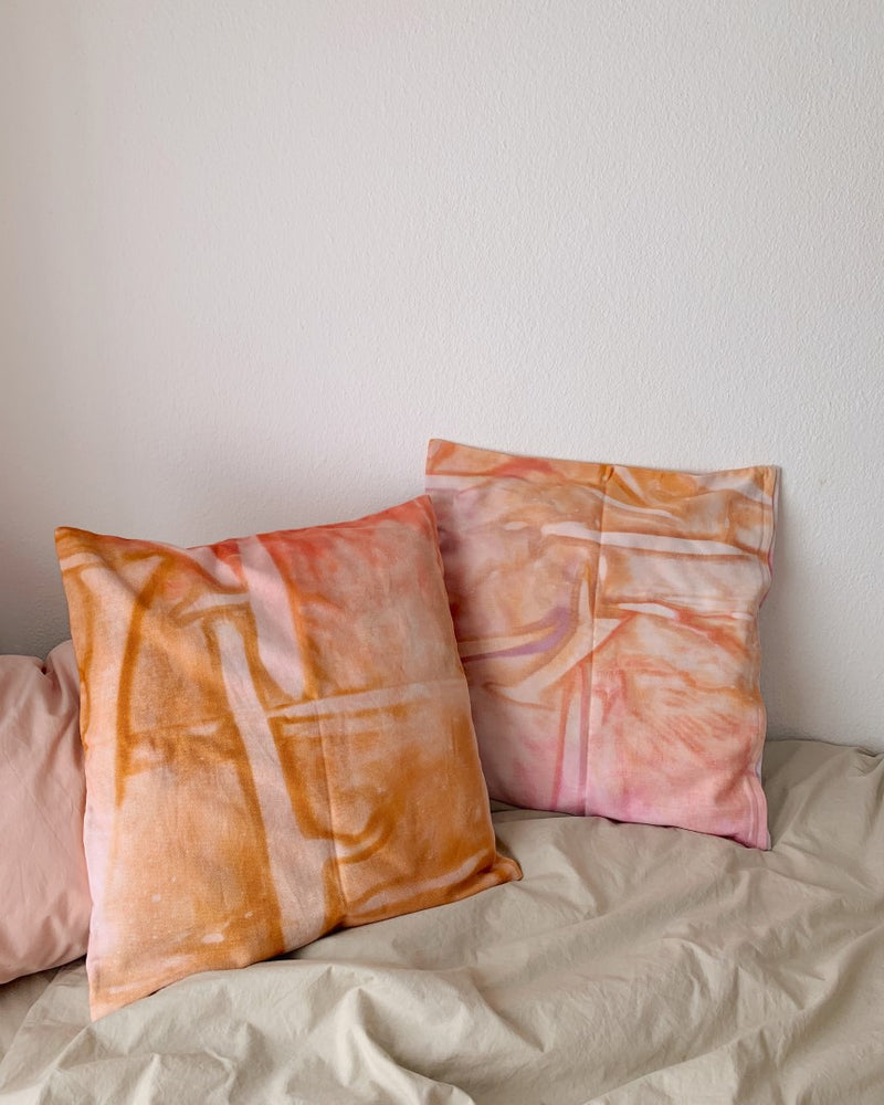 HAND-PAINTED PILLOWCASE - choose your color