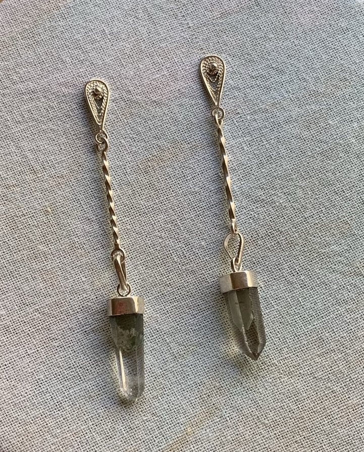 DROP LODONITE EARRINGS