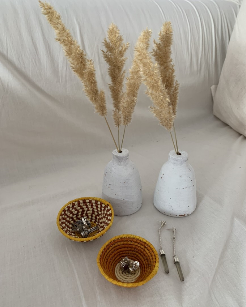 WOVEN STRAW CATCH-ALL MINI DISH