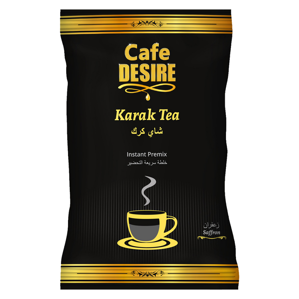 Kadak Saffron Tea Premix (1Kg) | 3 in 1 Tea | Makes 80 Cups | Milk not required | Kadak Chai with Kesar Flavour | For Manual Use - Just add Hot Water | Suitable for all Vending Machines