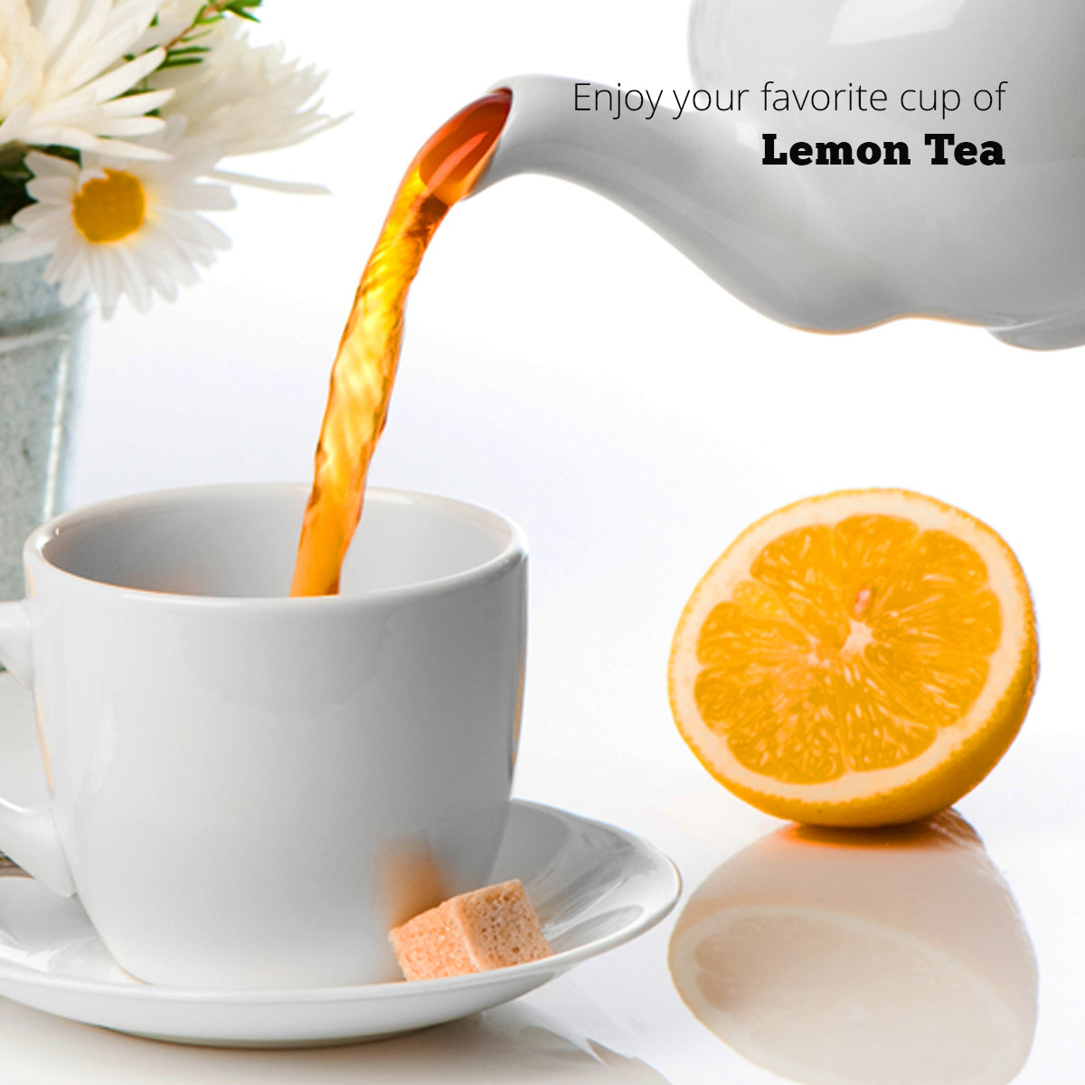 Lemon Tea Premix (1Kg) | Makes 100 Cups | 2 in 1 | Black Tea with Lemon | For Manual Use - Just add Hot Water | Suitable for all Vending Machines