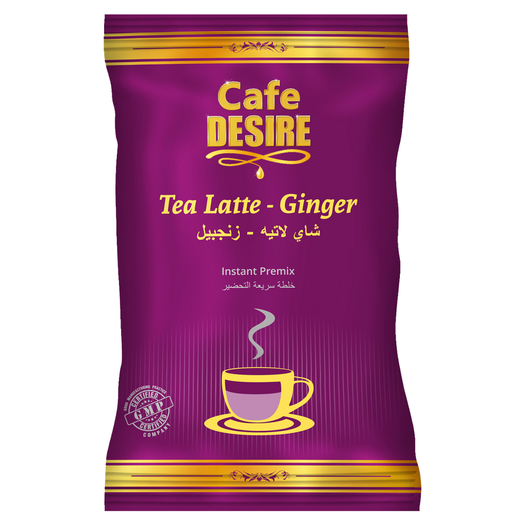 Tea Latte - Ginger Premix (650g) | Makes 80 Cups | No Added Sugar | Milk not required | Ginger Tea | For Manual Use - Just add Hot Water | Suitable for all Vending Machines
