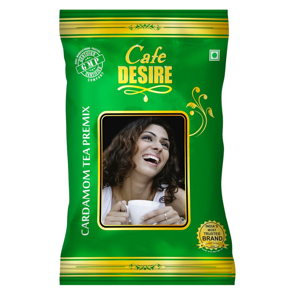 Instant Cardamom Tea Premix (1 kg) | 3 in 1 Tea | Milk not required | Rich taste as Home-made | Cardamom Flavour Imported from Geneva | Manual use - Just add Hot Water | Suitable for all Vending Machines | Makes 90 cups per KG