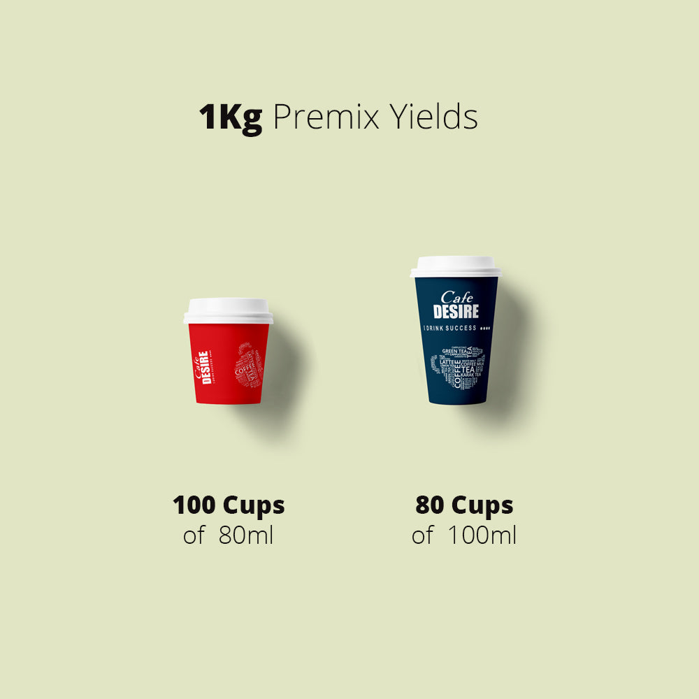 Cappuccino Premix (1Kg) | Makes 80 Cups | 3 in 1 | Milk not required | For Manual Use - Just add Hot Water | Suitable for all Vending Machines | Vanilla Flavoured