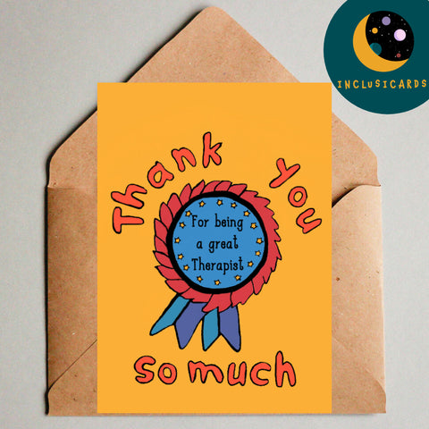 Thank you so much - great therapist