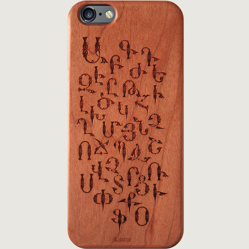 Armenian Alphabet iPhone Case by Gugoco