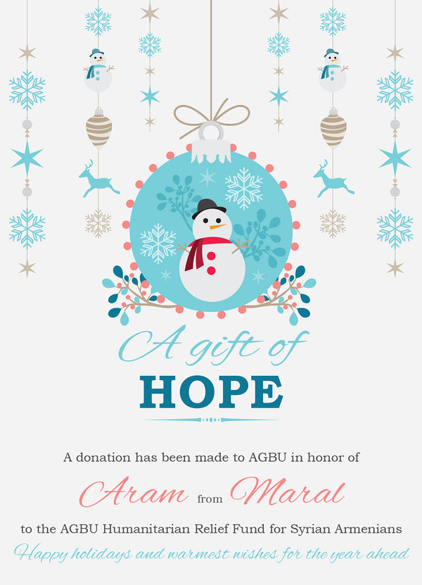 A Gift of Hope for Christmas: AGBU Syria Relief Program