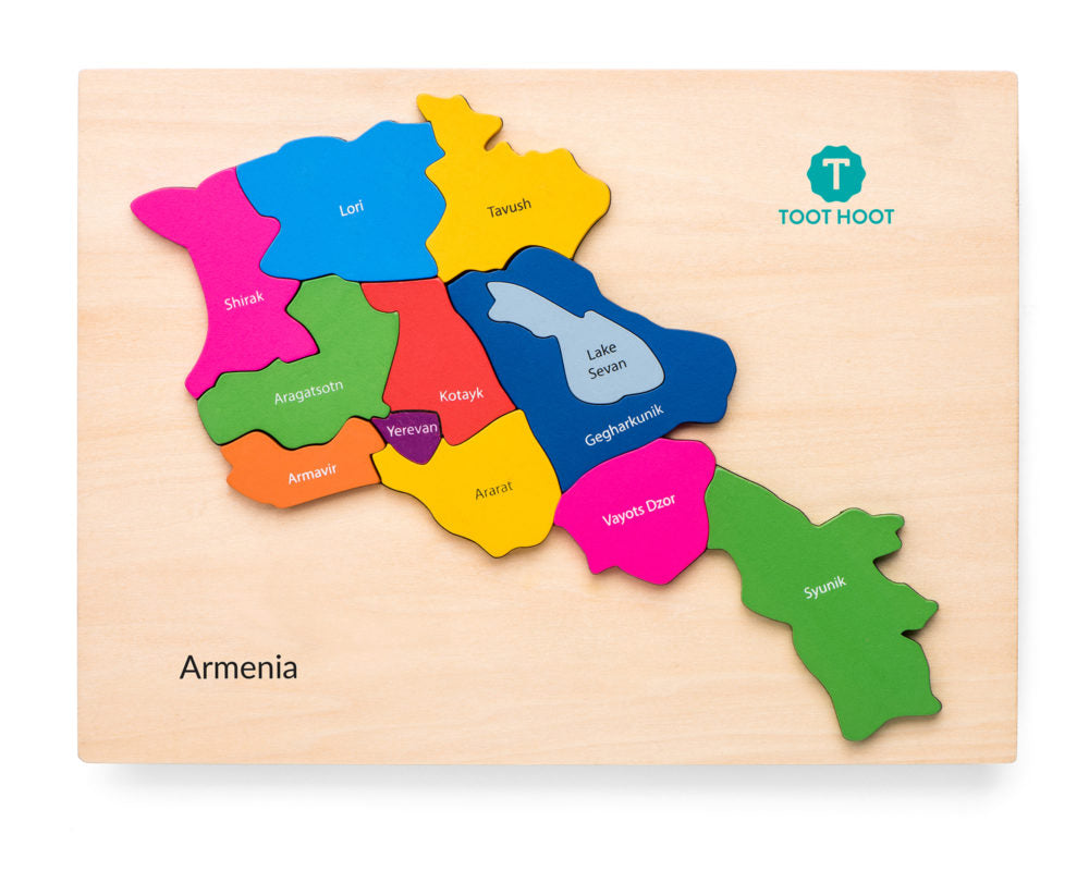 ARMENIA MAP PUZZLE by Toot Hoot