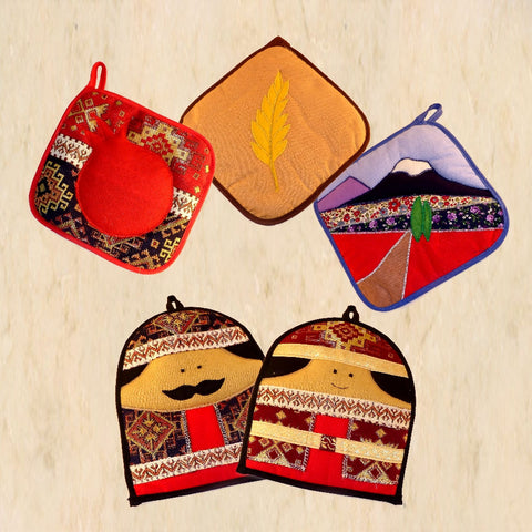 Decorative Armenian-themed Potholders