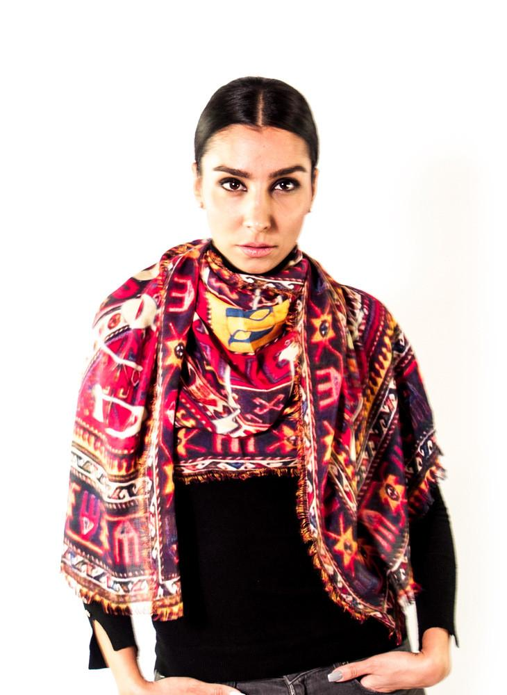 Armenian Alphabet Scarf #2: Anet's Collection