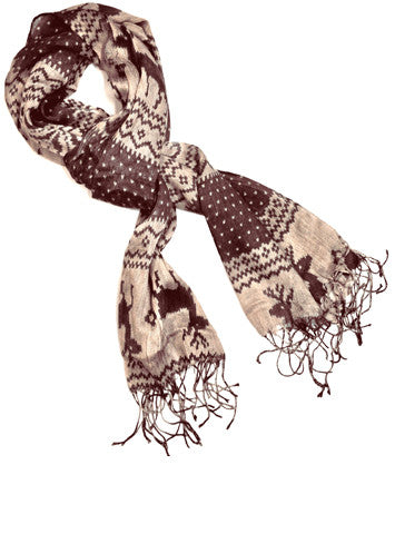 Brown Winter Neck Scarf by AGBU Hye Geen Program