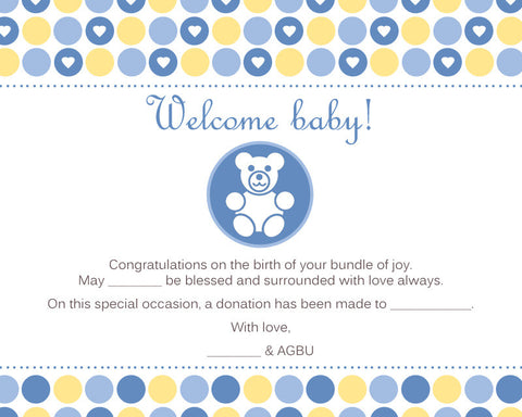 Welcome Baby Boy!