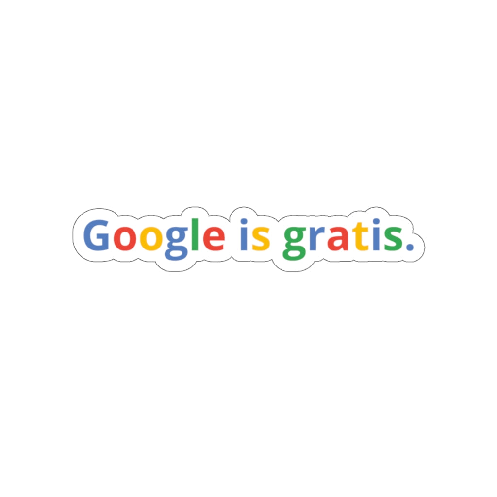Google is gratis - Sticker