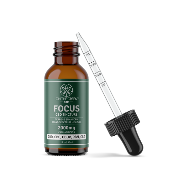 FOCUS (2000mg) TERPENE ENHANCED BROAD SPECTRUM TINCTURE