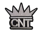 CNT Embroidered Silver Logo Patch