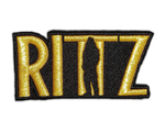 Rittz Embroidered Gold Logo Patch