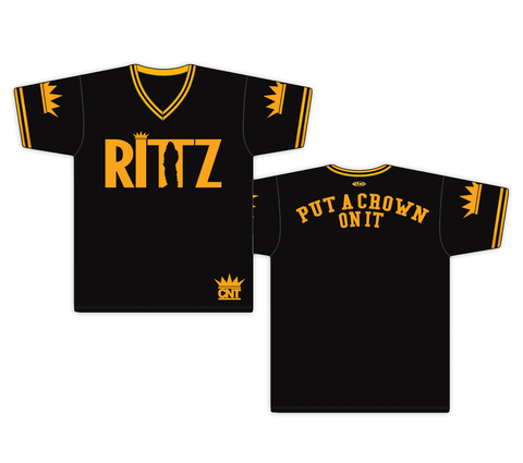 Rittz Put A Crown On It Black and Gold Pull Over Baseball