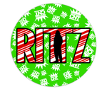 Rittzmas Double Sided Ceramic Ornament - RITTZ LOGO