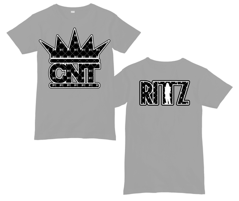 CNT Pattern Logo Grey Shirt