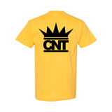 Yellow T-shirt with Black Crown Pocket Print