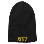 Black Beanie with Gold Embroidered Rittz Logo