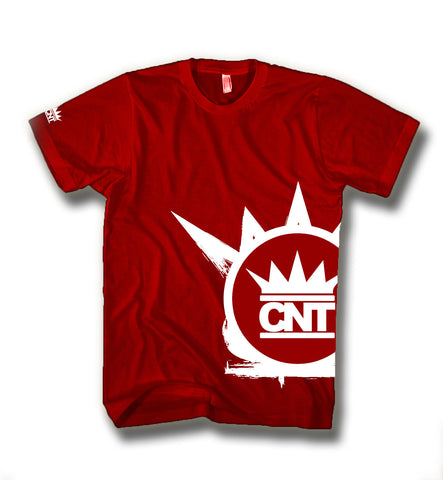 Red CNT Offset Shirt