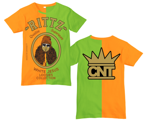 Rittz Two Tone White Jesus Loosies Shirt